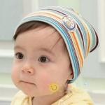 หมวกเด็กอ่อนเกาหลี ลายริ้ว สำหรับเด็กวัย 3 - 36 เดือน