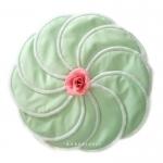 แผ่นซับน้ำนม กันน้ำ ซักได้ 10 ชิ้น (สีเขียวครีม Mint Green)
