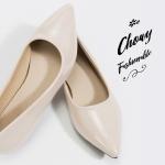 รองเท้าส้นแบนไซส์ใหญ่ 41 Shanon Glossy Pointed รุ่น KR0622
