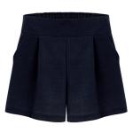 รอบเอว 38-42 นิ้ว กางเกงขาสั้นคนอ้วน ไซส์ใหญ่ สีกรมท่า - FF0120