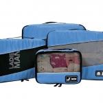 Ecosusi 4 Set Packing Cubes - Travel Organizers - ชุดจัดกระเป๋าเดินทางคุณภาพดีมาก 4 ใบต่อชุด ใส่เสื้อผ้า ชั้นใน ถุงเท้า เข็มขัด (ฺBlue)