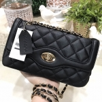 MARCS QUILTED CHAIN SHOULDER BAG WITH DETAILS