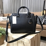 Charles & Keith Structured Trapeze Bag รุ่นหนังคาเวียร์ สีดำ