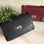 CHARLES & KEITH QUILTED CHAIN SHOULDER BAG หนังคาเวียร์