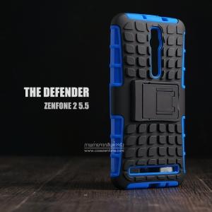 เคส ASUS Zenfone 2 (5.5 นิ้ว) กรอบบั๊มเปอร์ กันกระแทก Defender สีน้ำเงิน (เป็นขาตั้งได้)