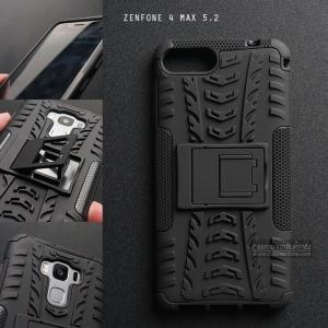 เคส Zenfone 4 Max 5.2 ( ZC520KL ) กรอบบั๊มเปอร์ กันกระแทก Defender สีดำ (เป็นขาตั้งได้)