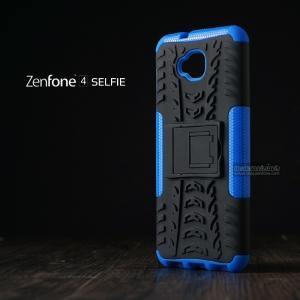 เคส Zenfone 4 Selfie ( ZD553KL ) กรอบบั๊มเปอร์ กันกระแทก Defender สีน้ำเงิน (เป็นขาตั้งได้)