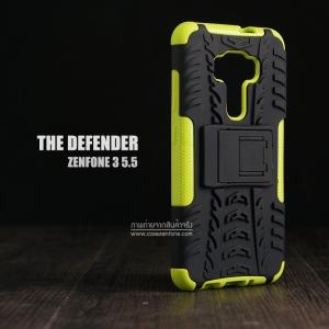 เคส Zenfone 3 (ZE552KL) 5.5 นิ้ว เคสบั๊มเปอร์ กันกระแทก Defender สีเขียวอ่อน