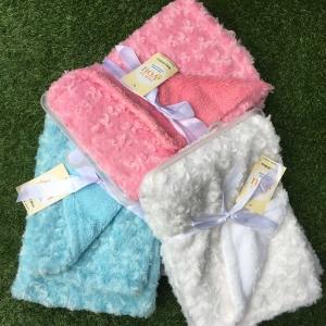 ผ้าห่มเด็ก ผ้าห่มขนแกะ ผ้ากำมะหยี่ปะการัง / ลายที่ 9 (มี 3 สี)