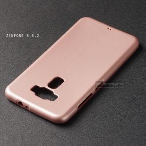 """เคส Zenfone 3 ZE520KL (5.2"""" นิ้ว) เคสนิ่มผิวเงา (MY COLORS) สีชมพู"""