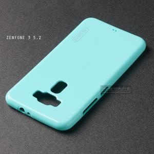 """เคส Zenfone 3 ZE520KL (5.2"""" นิ้ว) เคสนิ่มผิวเงา (MY COLORS) สีเขียวอมฟ้า"""