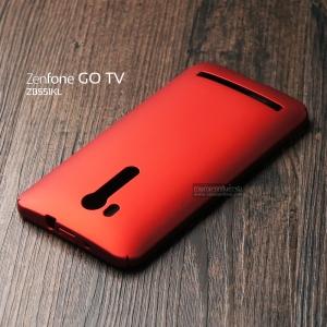 """เคส Zenfone GO TV 5.5"""" (ZB551KL) เคสแข็งสีเรียบ คลุมขอบ 4 ด้าน สีแดง"""