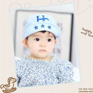 HT322••หมวกเด็ก•• / หมวกแก็ป-HC (สีฟ้า)
