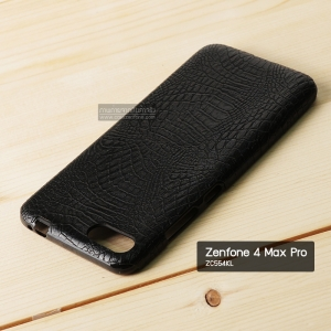 เคส Zenfone 4 Max Pro (ZC554KL) เคสนิ่มพิมพ์ลายหนัง (จระเข้) สีดำ