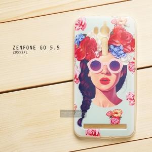 เคส Zenfone GO 5.5 นิ้ว (ZB552KL) เคสนิ่ม TPU พิมพ์ลาย แบบที่ 7