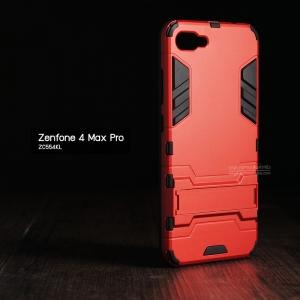 เคส Zenfone 4 Max Pro (ZC554KL) เคสขอบกันกระแทก Defender (มีขาตั้ง) สีแดง - ดำ