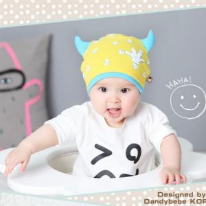 HT400••หมวกเด็ก•• / หมวกบีนนี่-เลขคู่ (สีเหลือง)