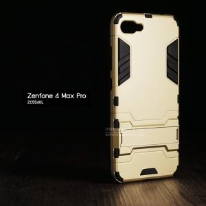 เคส Zenfone 4 Max Pro (ZC554KL) เคสขอบกันกระแทก Defender (มีขาตั้ง) สีทอง - ดำ