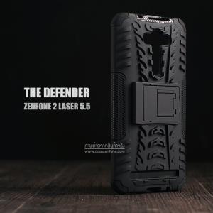 เคส Zenfone 2 Laser (5.5 นิ้ว) กรอบบั๊มเปอร์ กันกระแทก Defender สีดำ (เป็นขาตั้งได้)