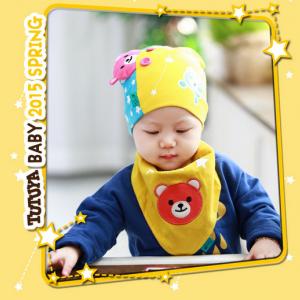 AP108••เซตหมวก+ผ้ากันเปื้อน•• / [สีเหลือง] น้องหมี