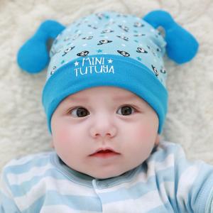 HT425••หมวกเด็ก•• / หมวกบีนนี่-สุนัข (สีฟ้า)