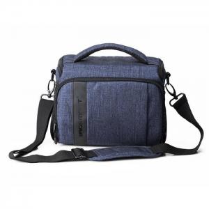 กระเป๋าใส่กล้องถ่ายรูป SLR/DSLR ขนาดกะทัดรัด พร้อมผ้าคลุมกันฝนหรือสิ่งสกปรก (สี Heather Blue) (BAGSMART Compact Camera Shoulder Bag for SLR/DSLR with Waterproof Rain Cover)