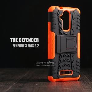 เคส Zenfone 3 Max ( ZC520TL ) 5.2 นิ้ว กรอบบั๊มเปอร์ กันกระแทก Defender สีส้ม (เป็นขาตั้งได้)