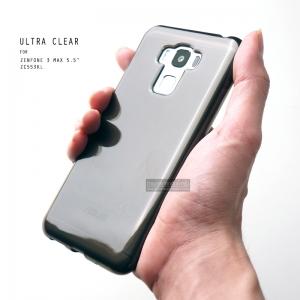"""เคส Zenfone 3 Max 5.5"""" (ZC553KL)เคสนิ่ม ULTRA CLEAR พร้อมจุดขนาดเล็กป้องกันเคสติดกับตัวเครื่อง สีดำใส"""