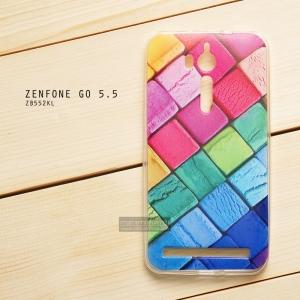 เคส Zenfone GO 5.5 นิ้ว (ZB552KL) เคสนิ่ม TPU พิมพ์ลาย แบบที่ 14 Ice Cream Cubes