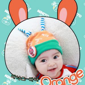 HT188••หมวกเด็ก•• / [สีส้ม] Minito
