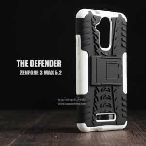 เคส Zenfone 3 Max ( ZC520TL ) 5.2 นิ้ว กรอบบั๊มเปอร์ กันกระแทก Defender สีขาว (เป็นขาตั้งได้)