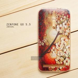 เคส Zenfone GO 5.5 นิ้ว (ZB552KL) เคสนิ่ม TPU พิมพ์ลาย แบบที่ 10
