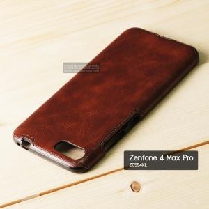 เคส Zenfone 4 Max Pro (ZC554KL) เคสนิ่มพิมพ์ลายหนัง สีน้ำตาล