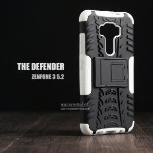 เคส Zenfone 3 ( ZE520KL ) กรอบบั๊มเปอร์ กันกระแทก Defender สีขาว (เป็นขาตั้งได้)