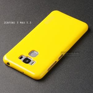 """เคส Zenfone 3 Max ZC553KL (5.5"""" นิ้ว) เคสนิ่มผิวเงา (MY COLORS) สีเหลือง"""