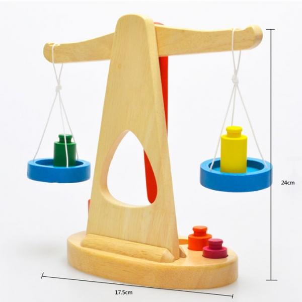 รูปภาพสินค้า ของเล่นไม้ ชุดตาชั่งถ่วงน้ำหนัก เสริมพัฒนาการ