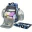 Ecosusi กระเป๋าสัมภาระคุณแม่ แบบเป้ มาพร้อมแผ่นรองเปลี่ยนผ้าอ้อม, สายคล้องรถเข็น, ช่องเก็บความร้อน-เย็น (Navy Patten) thumbnail 9