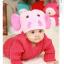 หมวกไหมพรมถักมือ หมวกบีนนี่สำหรับเด็ก ลายช้างน้อย (มี 5 สี) thumbnail 4