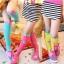 ถุงเท้ายาวเด็กหญิง 2-8 ปี ลายจุด แฟชั่นเกาหลี สีสันสดใสน่ารัก thumbnail 2