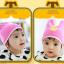 HT449••หมวกเด็ก•• / หมวกบีนนี่-หมีคู่ (สีชมพูเข้ม) thumbnail 2