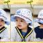 HT490••หมวกเด็ก•• / หมวกปีกกว้าง-Rabbit (สีฟ้า) thumbnail 5