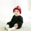 หมวกไหมพรมสำหรับเด็ก หมวกกันหนาวเด็กเล็ก หมวกบีนนี่ สีทูโทน (มี 5 สี) thumbnail 4