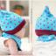 AP072••เซตหมวก+ผ้ากันเปื้อน•• / [สีฟ้า] ดวงดาว thumbnail 3