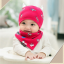 AP227••เซตหมวก+ผ้ากันเปื้อน•• / ดวงตา [สีชมพูเข้ม] thumbnail 4
