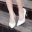 รองเท้าส้นเข็มไซส์ใหญ่ ทรงหัวแหลม ไซส์ 42 สีขาว รุ่น KR0645 thumbnail 5