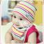 AP083••เซตหมวก+ผ้ากันเปื้อน•• / ลายขวาง มี 3 สี thumbnail 2