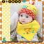 AP135••เซตหมวก+ผ้ากันเปื้อน•• / [สีเหลือง] กระรอก thumbnail 4