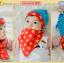 AP180••เซตหมวก+ผ้ากันเปื้อน•• / ดาว [สีฟ้า-แดง] thumbnail 3