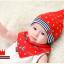 AP073••เซตหมวก+ผ้ากันเปื้อน•• / [สีแดง] ดวงดาว thumbnail 2