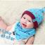 AP072••เซตหมวก+ผ้ากันเปื้อน•• / [สีฟ้า] ดวงดาว thumbnail 2